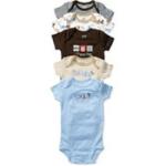 Child of Mine by Carter's - Newborn Short-Sleeve Bodysuits, 5-Pack