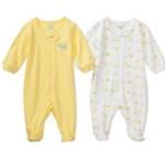 Garanimals - Assorted Sleep N Play Long-Sleeve Bodysuits, 2-Pack