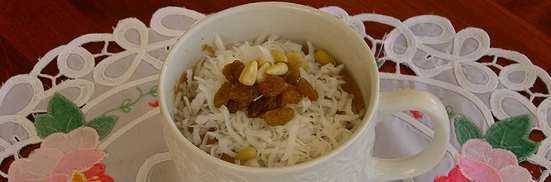 NANA'S THREE SPICES RICE PUDDING