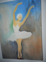 BALLERINA oil on canvas 14x24